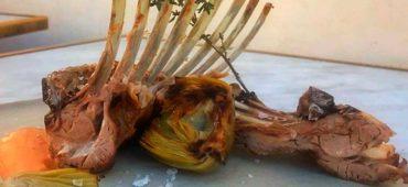 Carré de Corderito Lechal confitado y asado