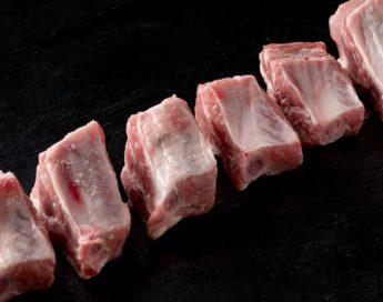 Costilla de cerdo fresca troceada