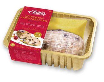 Redondo de pollo relleno envasado